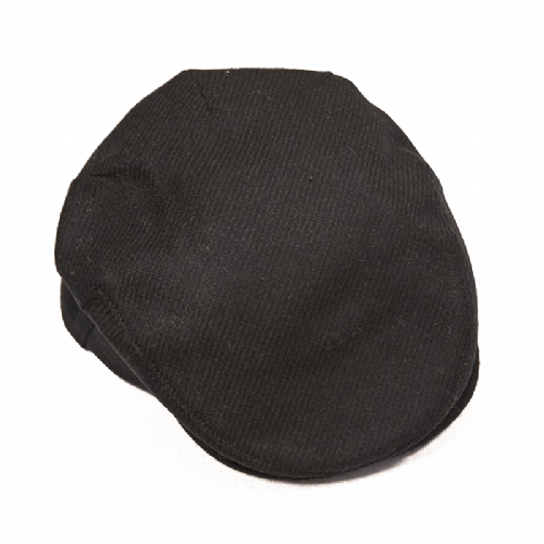 Handmade Irish Tweed Cap - Black